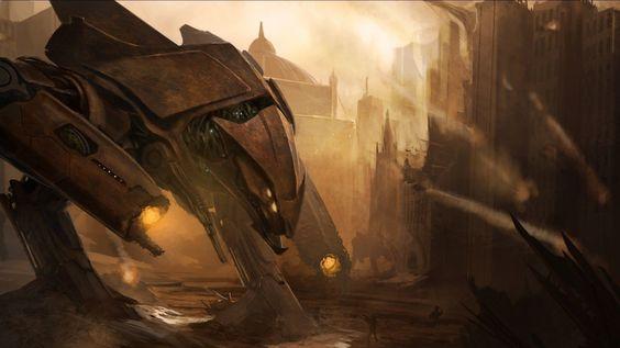artwork-robots-fantasy-art-concept-art-futuristic-soldiers-cities.jpg 1,920×1,080 pixels
