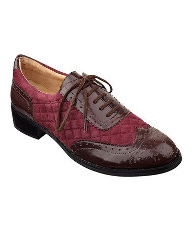 Love this Beetroot Sylvia Leather Oxford by Isaac Mizrahi on #zulily! #zulilyfinds