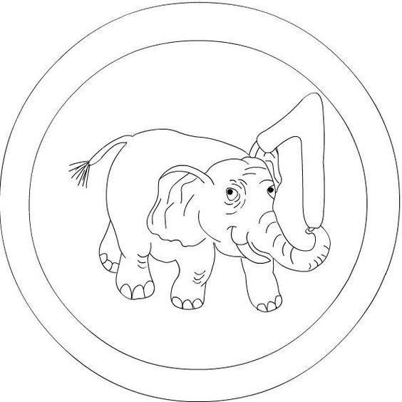 number 1 mandala coloring: