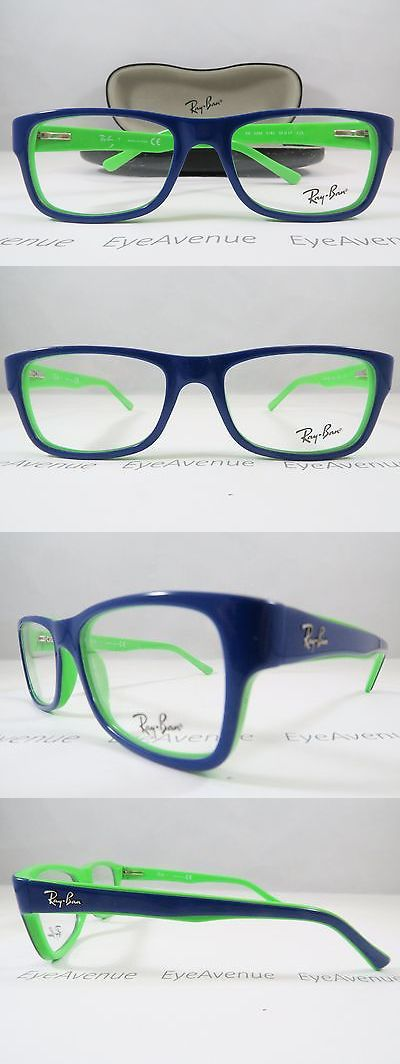 where can i buy ray ban eyeglass frames  eyeglass frames: ray ban rb 5268 5182 blue/lime green new authentic eyeglasses