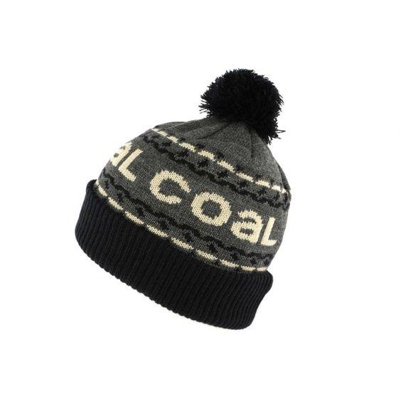 Bonnet Pompon Coal Headwear The Kelso Gris et Noi #bonnet #mode #tendance #ideecadeau sur votre Boutique Headwear Hatshowroom.com #startupr