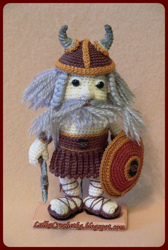 Amigurumi Viking Pattern : Amigurumi, Vikings and Dolls on Pinterest