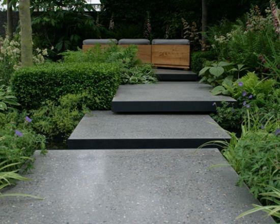 Cement Steps Polished Concrete Designs House Pinterest - Polished concrete patio