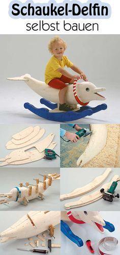 Mit einem Delfin zu schwimmen geht jetzt auch an Land – dank unseres Schaukel-Delfins. Wir haben die Bauanleitung dazu.
