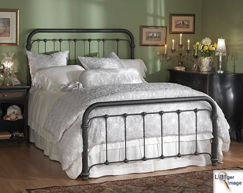 Bedding For A California King Wrought Iron Bed Victorian Style