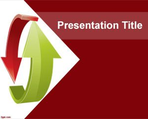 Decision Making PowerPoint Template is a free red decision ...