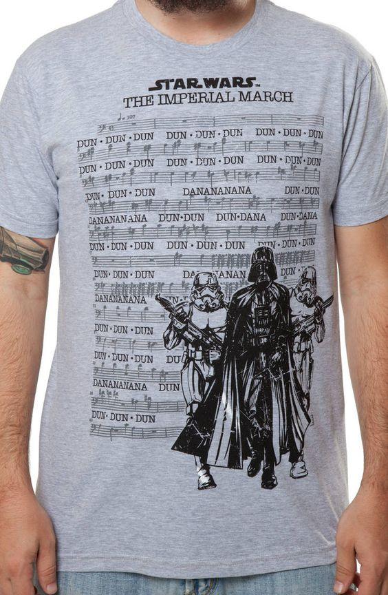 Imperial March Shirt: Star Wars Darth Vader Storm Trooper T-shirt it even has the dun dun dun dun da dun da dun