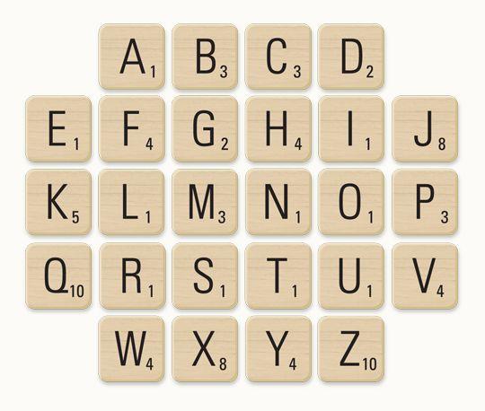 Free Hi-Res Wooden Scrabble Letter Tiles | fuzzimo