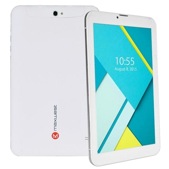 Maxwest Astro Phablet 9 Quad-Core 1.2GHz 1GB 16GB 9 Touchscreen Unlocked 4G Dual-SIM Phone-Tablet Android 5.1 (White)