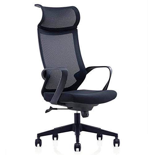 Lcaihua Computer Chair Swivel Chair Headrest Staff Chair High Resilience Sponge Home Chair Pu Anti Skid Wheel Computer 3 Computer Chair Headrest Swivel Chair