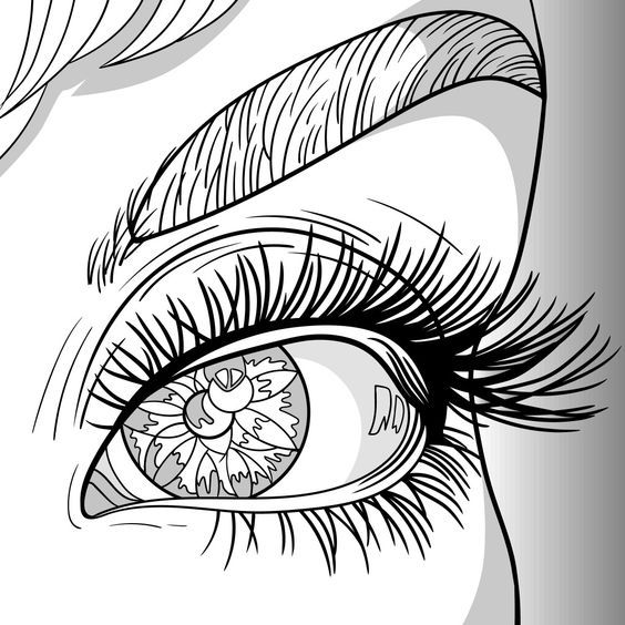 Makeup Coloring Page Jpg 1126 1600 Coloring Books Coloring Book Pages Coloring Book Album