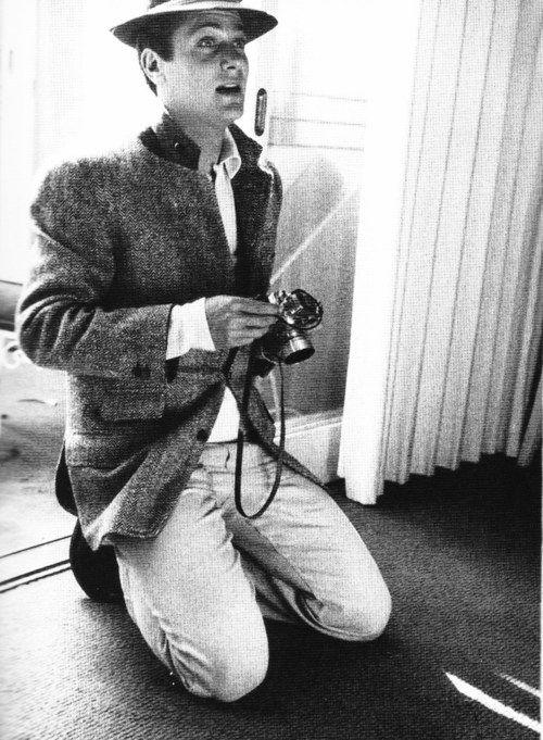 Tony Curtis with a camera