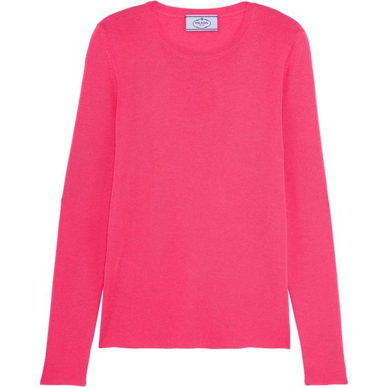 PradaCashmere And Silk-blend Sweater (€690) ❤ liked on Polyvore ...