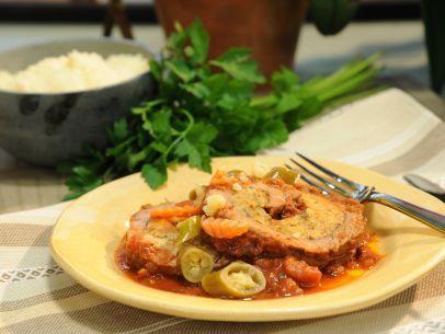 As seen on The Kitchen: Pammie's Braciole: Recipe Amber, Flank Steak, Kitchen Watching, Mauro Food, Food Network/Trisha, Braciole Recipes, Kitchen S Mother S