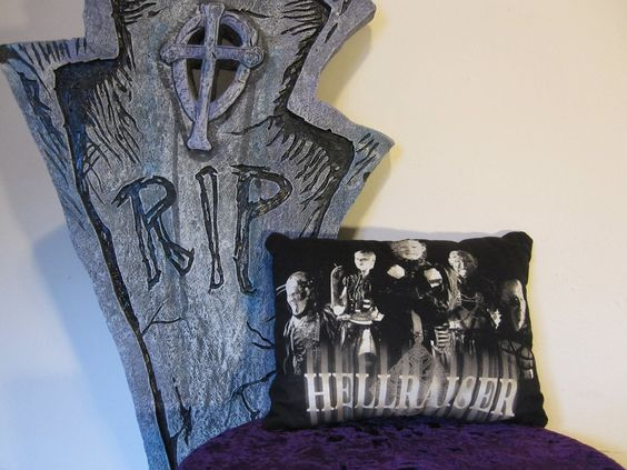 ON SALE Hellraiser Recycled T-Shirt Pillow. $9.99, via Etsy.