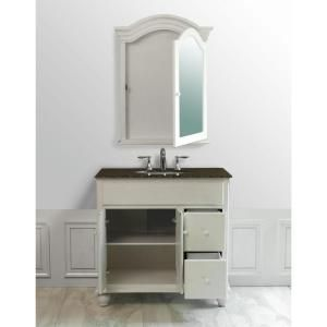stufurhome 36 in. Single Sink Vanity with Baltic Brown Granite Vanity Top and Mirror in White-GM-6114-36-BB at The Home Depot