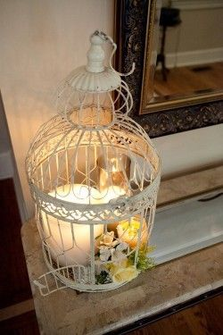 Beautiful birdcage candle holder on http://popularpin.com