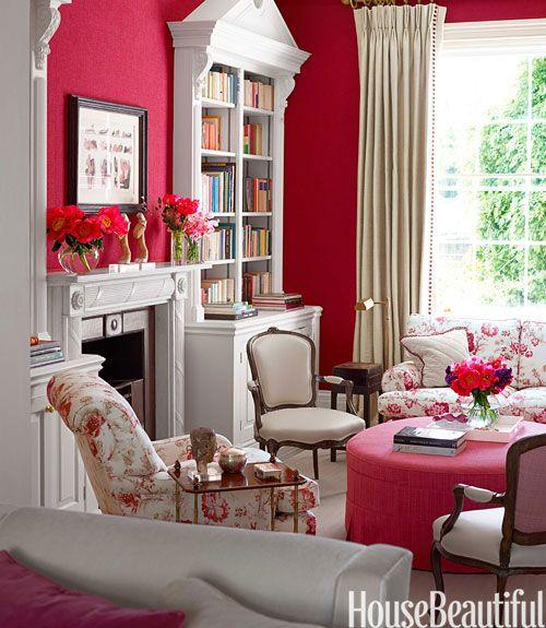 A bold london townhouse home library design london for English library decor
