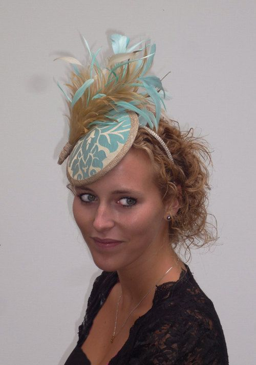 Couture mini saucer hat brocade fabric with by MarcusArtandFashion, $129.00