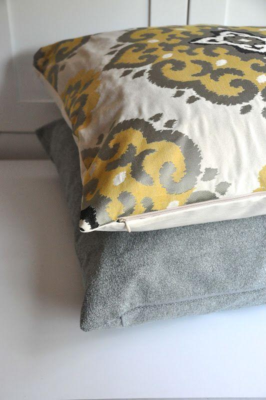 Zipper tutorial, Zippers and Pillow covers on Pinterest