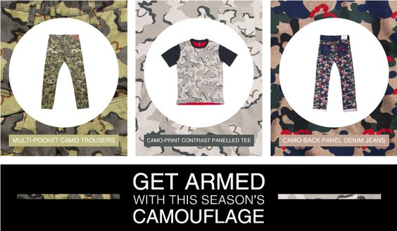 Get armed with this season's camouflage!