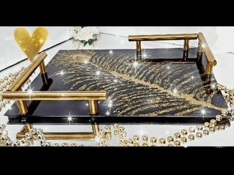 Diy بقطعة زجاج واللامع صنعت صينية عصرية تحفة مع طريقة ثقب الزجاج Youtube In 2020 Decor Home Decor Art