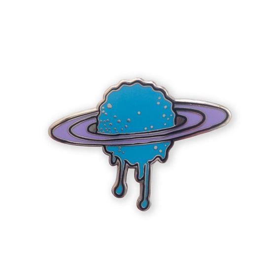 Melting Saturn Enamel Pin