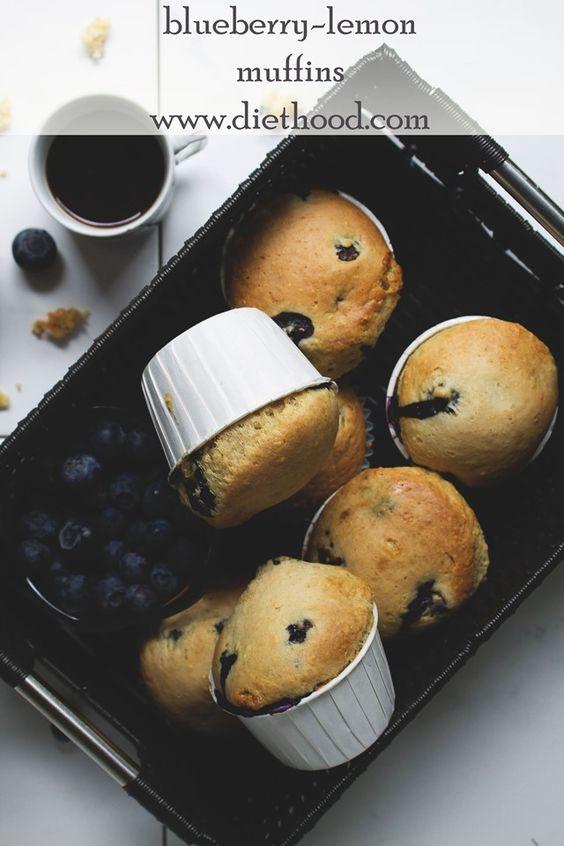 Blueberry Lemon Muffins @Kate Mazur Mazur Petrovska   Diethood