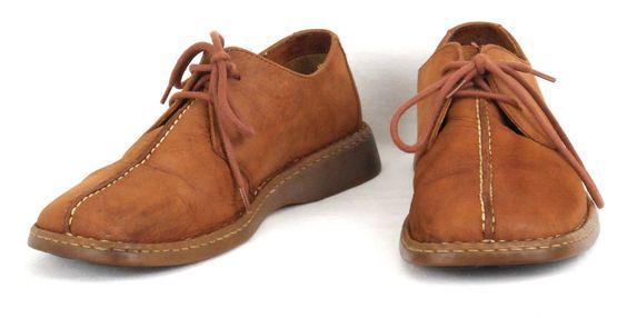 Born Split Toe Oxford Shoes Light Brown Sizw 9 / 42.5 M/W Leather  #Born #Oxfords