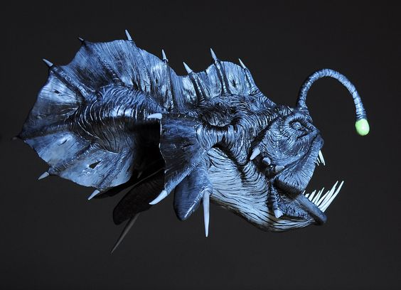 Prehistoric Angler fish / Painted by Heliot8.deviantart.com on @deviantART