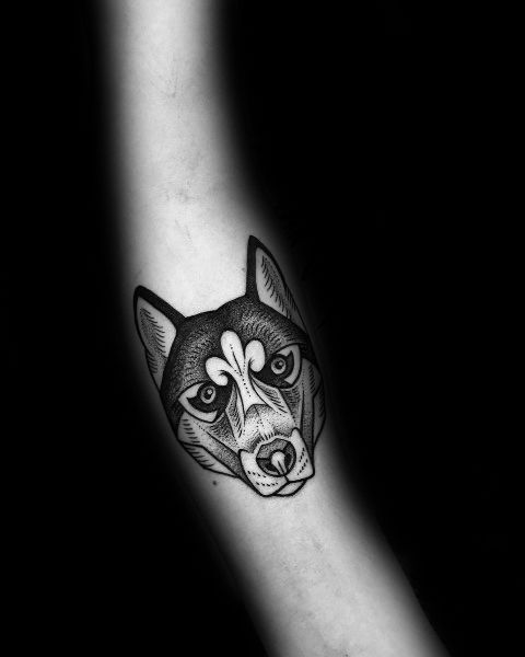 Polygon Animal Tattoo Hledat Googlem Geometric Wolf Tattoo