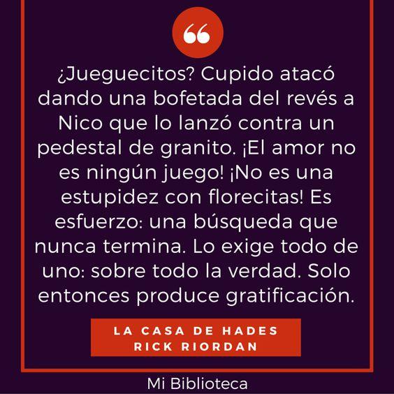 La Casa de Hades - Rick Riordan #Quote #PercyJackson: