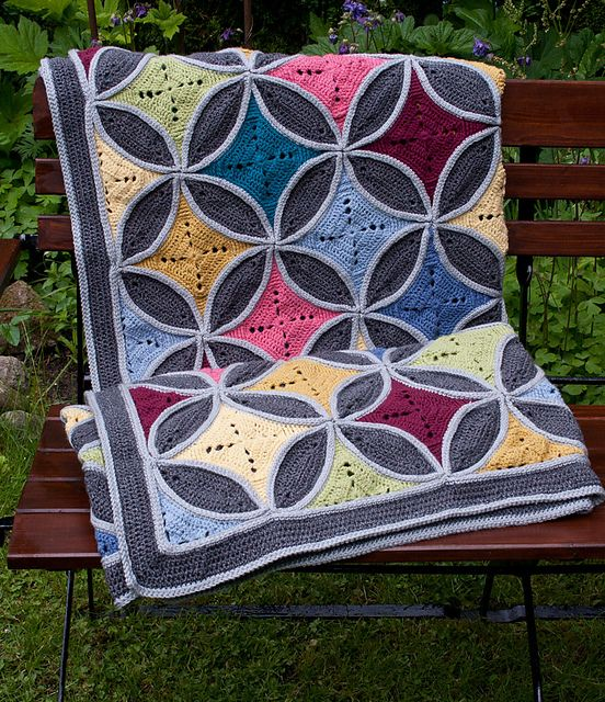Free Crochet Pattern For Cathedral Window Afghan : Cathedral Window Blanket pattern by CAROcreated design ...