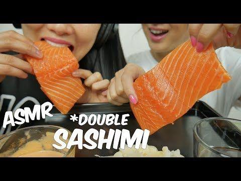 Asmr Salmon Sashimi Extreme Double Savage Eating Sounds No Talking Sas Asmr Youtube Asmr Salmon Sashimi Sashimi Eating japanese food sashimi carpaccio salmon & japanese scallop 刺身カルパッチョ. pinterest
