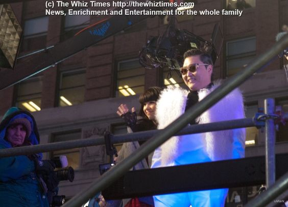 Psy at Times Square. Fireworks and celebrations for New year 2013
