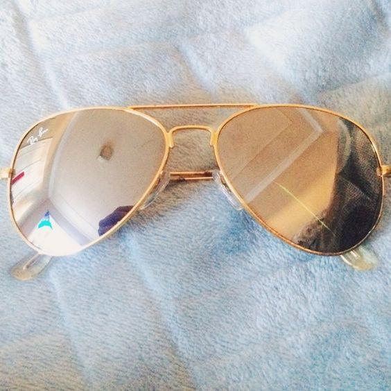 Ray-Ban Accessories - Gold Ray-Ban Mirror Aviator