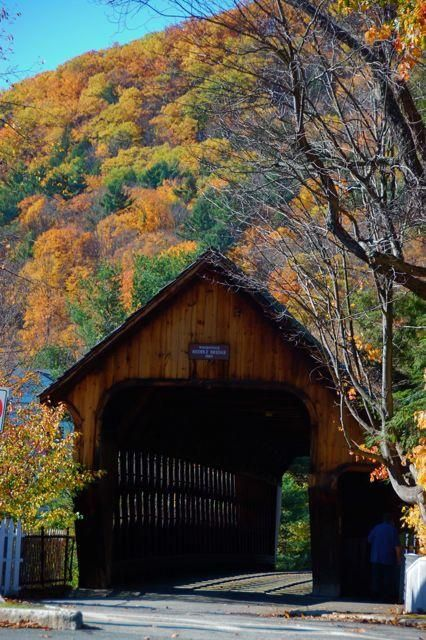 I always love driving through this and all Vermont covered bridges!