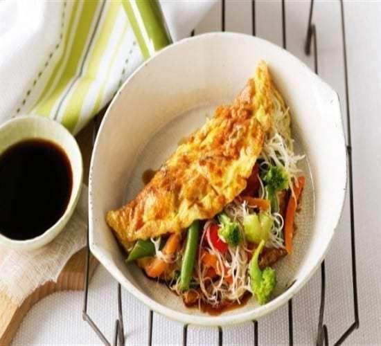 طريقة عمل الاومليت بوصفات سهلة وسريعة Asian Vegetables Recipes Omelette Recipe