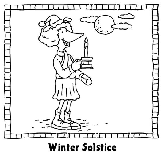 Explore solstice coloring year yule and more winter solstice coloring