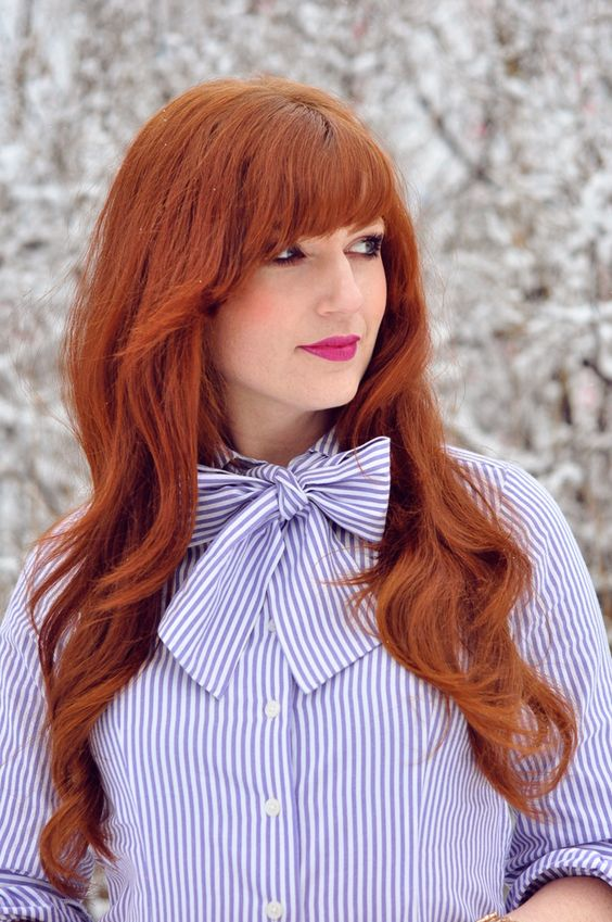 red hair | Fashion | Pinterest | Colors, The o'jays and Bangs
