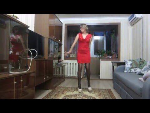 Dancing-Butts: Ola tanzt in Pumps und Strümpfen (High-Heels/Stockings) -...