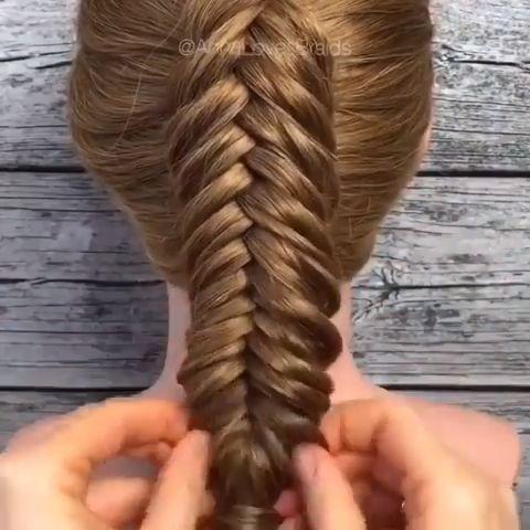 Dutch Fishtail Braid With Images Hair Braid Videos Braids For