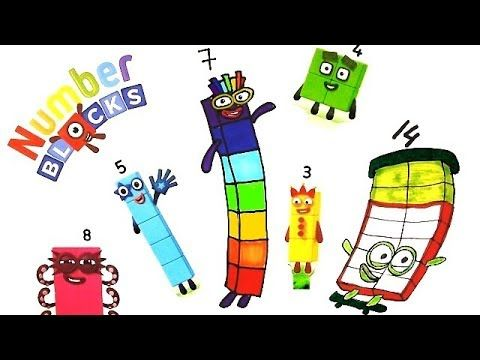 Numberblocks 7 Numberblocks Wizz Learningblocks Countingblocks Learntocount Forkids Coloring For Kids Drawing For Kids Learn To Count