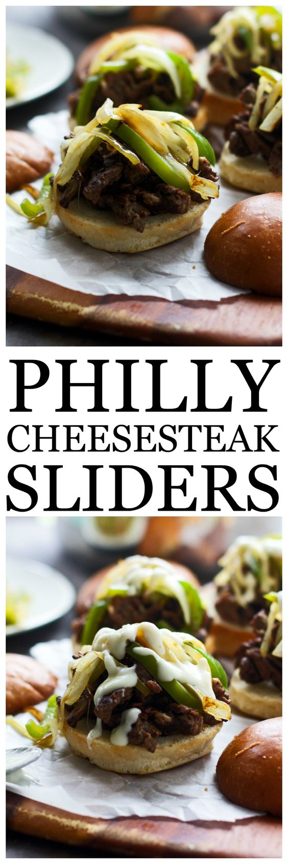 Super easy Philly cheesesteaks with gooey provolone cheese sauce, and ...