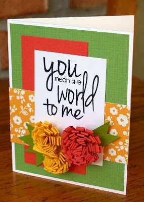 You Mean the World to Me - cute card!
