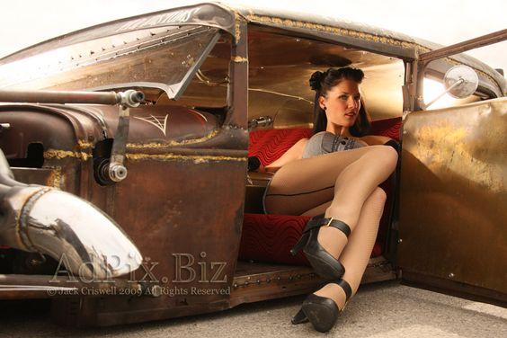 rat rod pin up | Rat Rod, Traditional Rod, Pinup, Pin-Up, Model, Glamor, Glamour ...