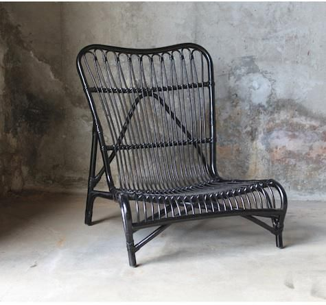Muubs' Bagao Lounge Chair; http://remodelista.com/posts/furniture-high-low-black-rattan-chair