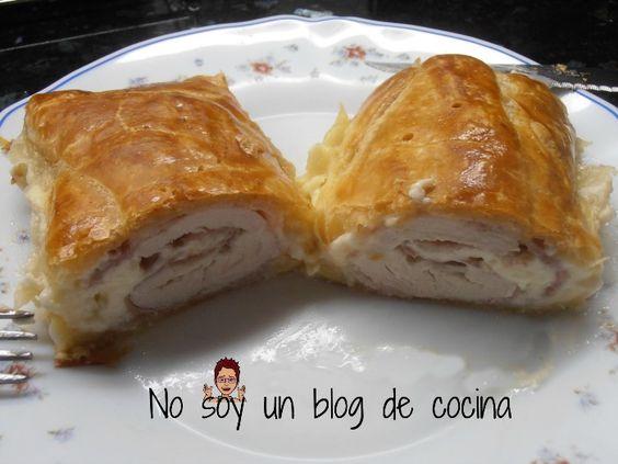 No soy un blog de cocina: PECHUGA DE POLLO ENVUELTA EN HOJALDRE