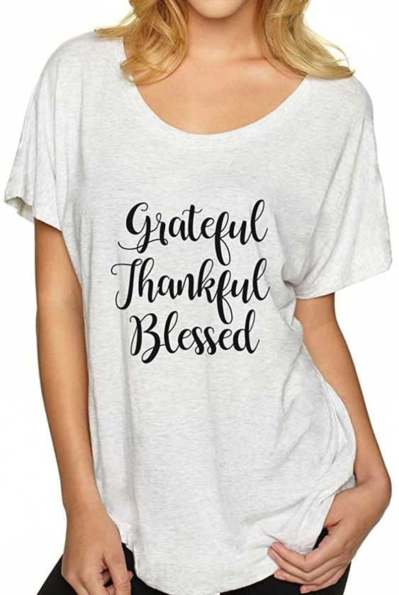 Amazon.com: Grateful Blessed Shirt. Religious T-Shirt. Women's Flowy Shirt. Inspirational Holiday Shirt.: Clothing