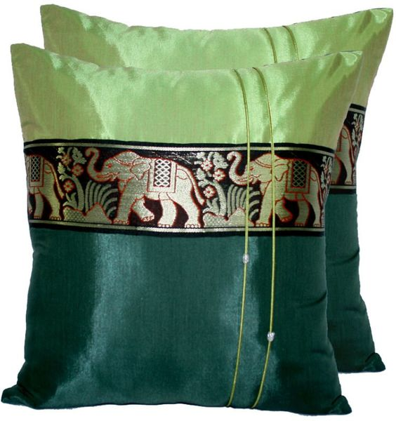 Thai Silk Pillow Case Plain color $6.99~$12.99